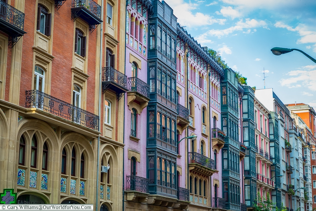 Beautiful architecture abounds in Bilbao, Spain