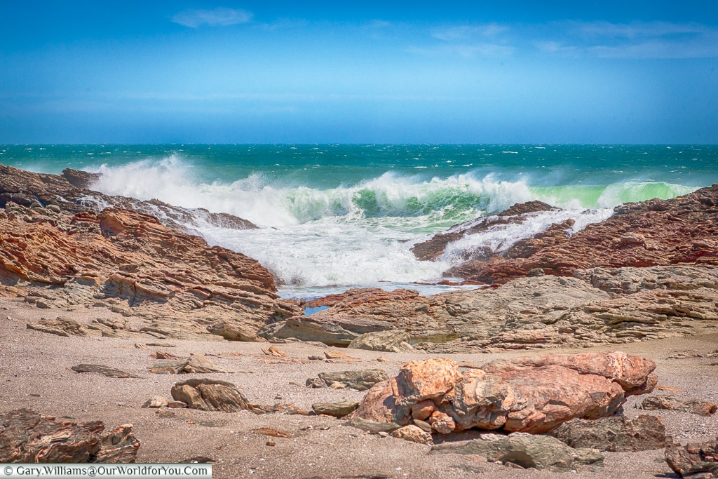 Breaking surf,Lüderitz, Namibia