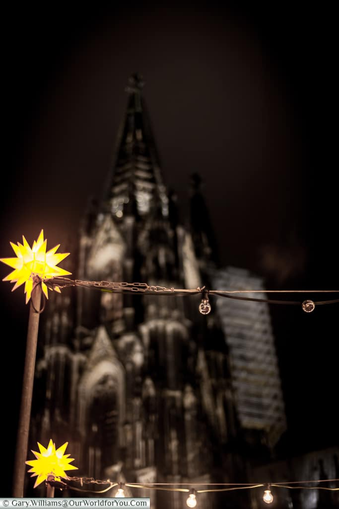 Christmas fairy lights, Cologne, Germany