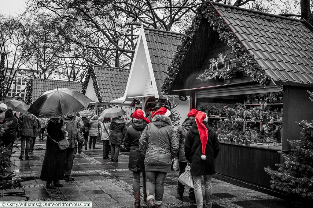 Christmas hats, Christmas Markets, Cologne, Germany