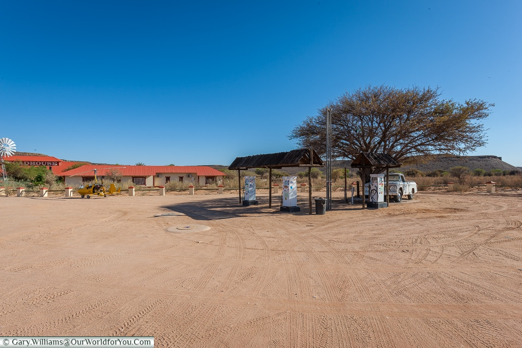 Fuel stop at the Roadhouse, Fish River Canyon, Namibia