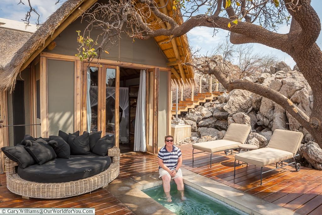 Janis at her watering hole, Etosha National Park, Namibia