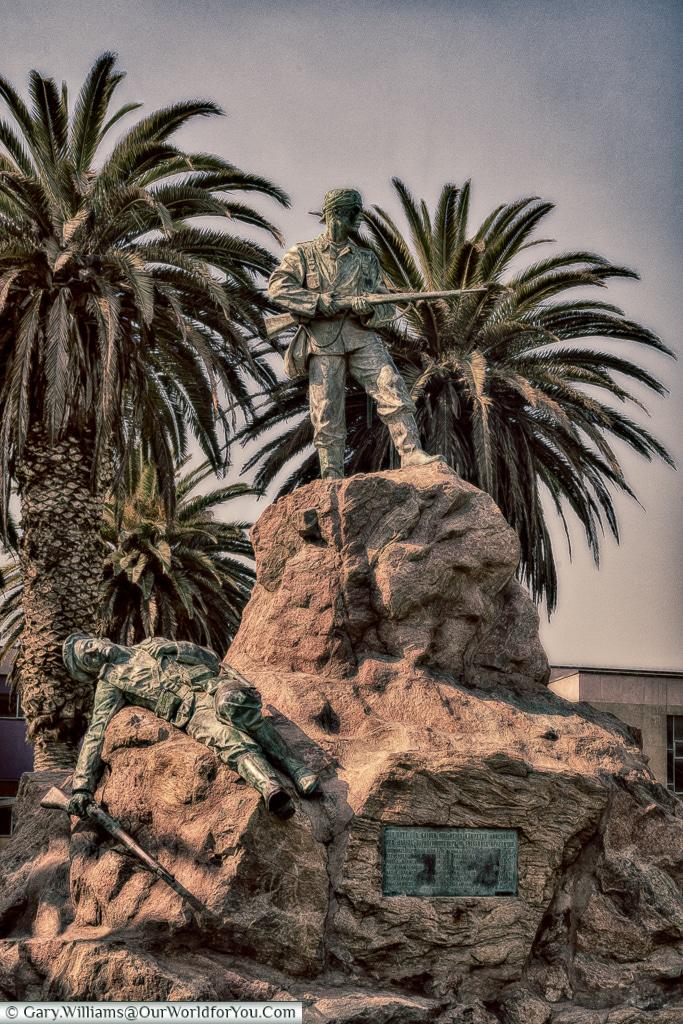 A memorial to the fallen, Swakopmund, Namibia