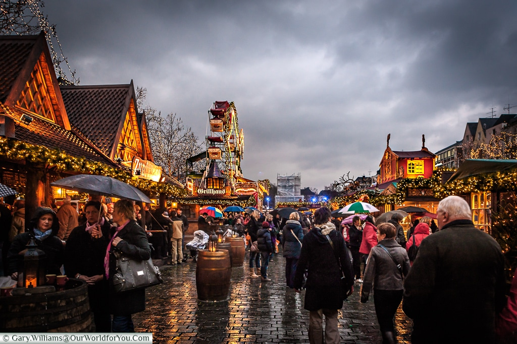Sometimes it rains at the Christmas Markets, Cologne, Germany