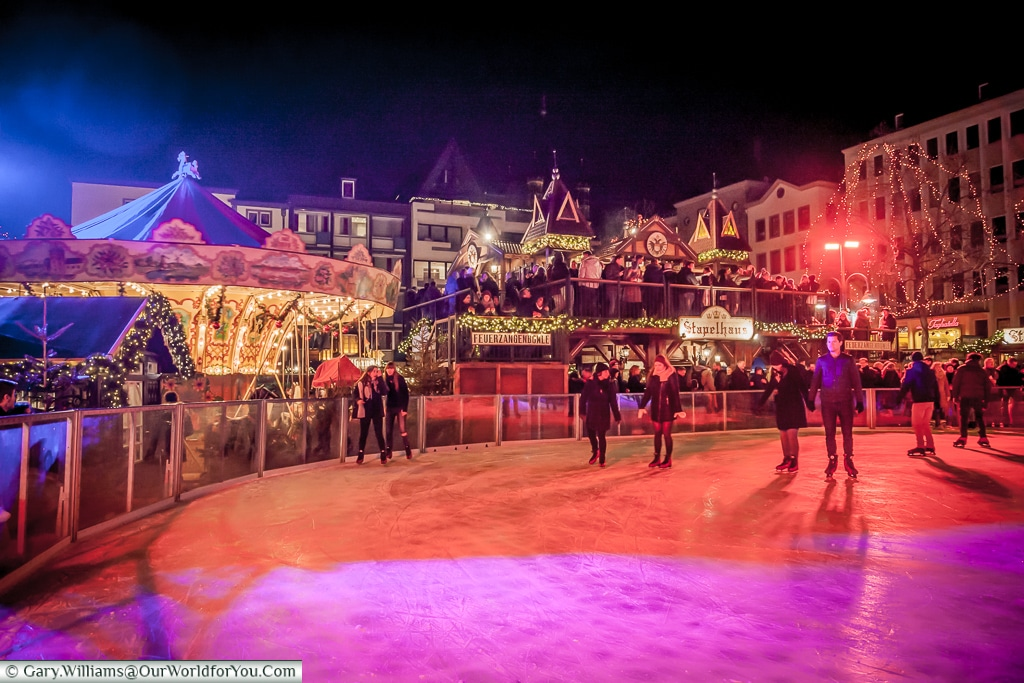 The ice rink , Christmas Markets, Cologne, Germany