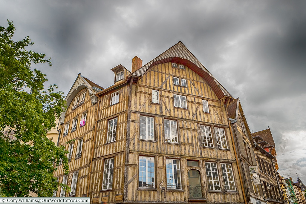 Timbered buildings, Troyes, Champagne, Grand Est, France