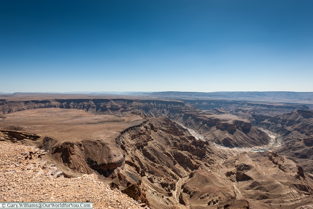 Traces of water, Fish River Canyon, Namibia