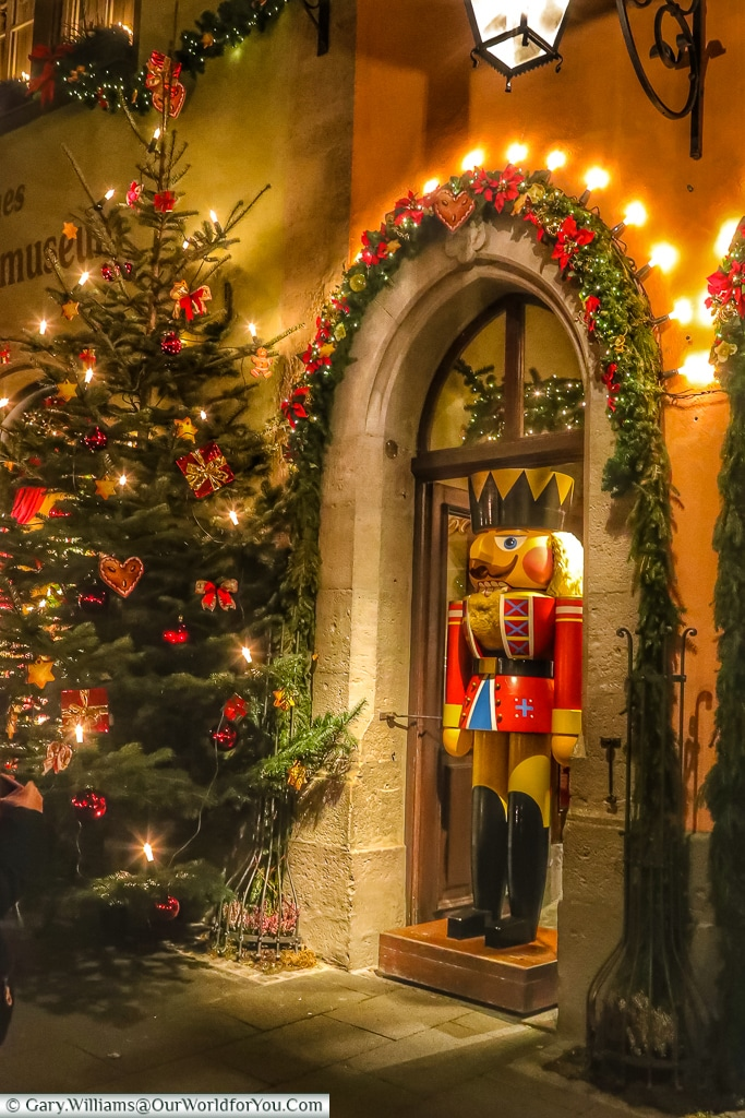 The Toy Soldier stands guard, Rothenburg ob der Tauber, Germany