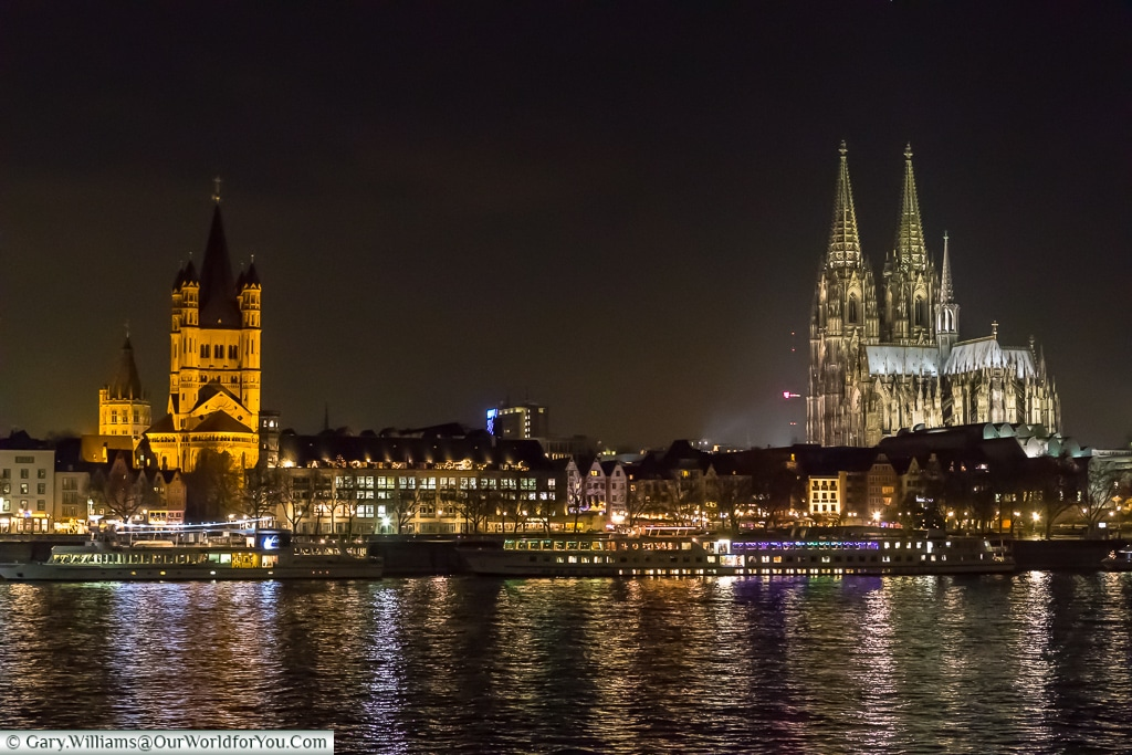 The views across the River Rhine, Cologne, Germany