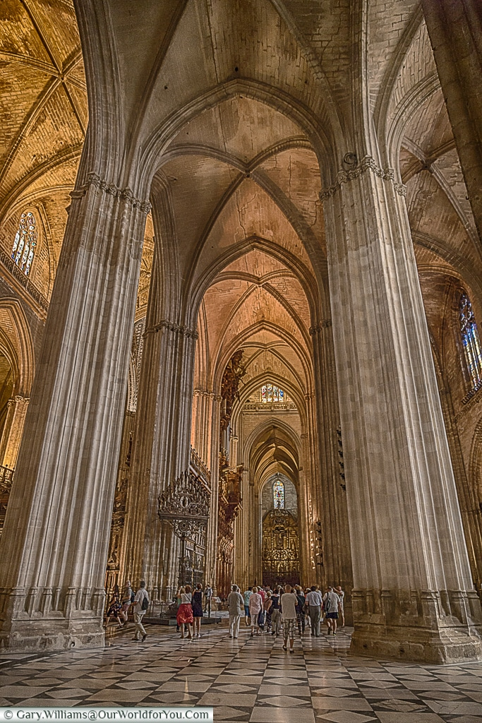 Inside the Cathedral, Seville, Spain