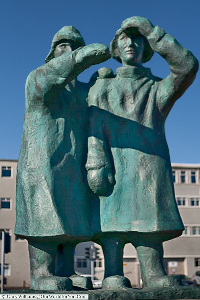 A monument to the fishermen, Iceland