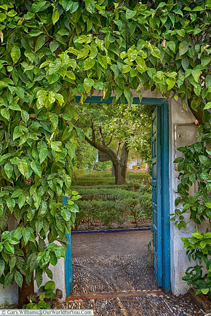 Hidden gardens in the Palacio de Viana, Cordoba, Córdoba, Spain