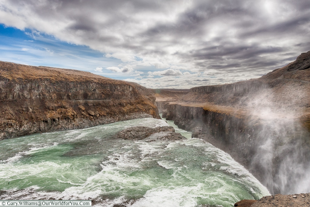 The dramatic Gullfoss on the Golden Circle, Iceland