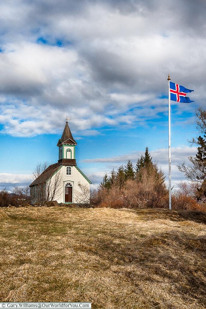 Thingvellir Church - on the Golden Circle, Iceland