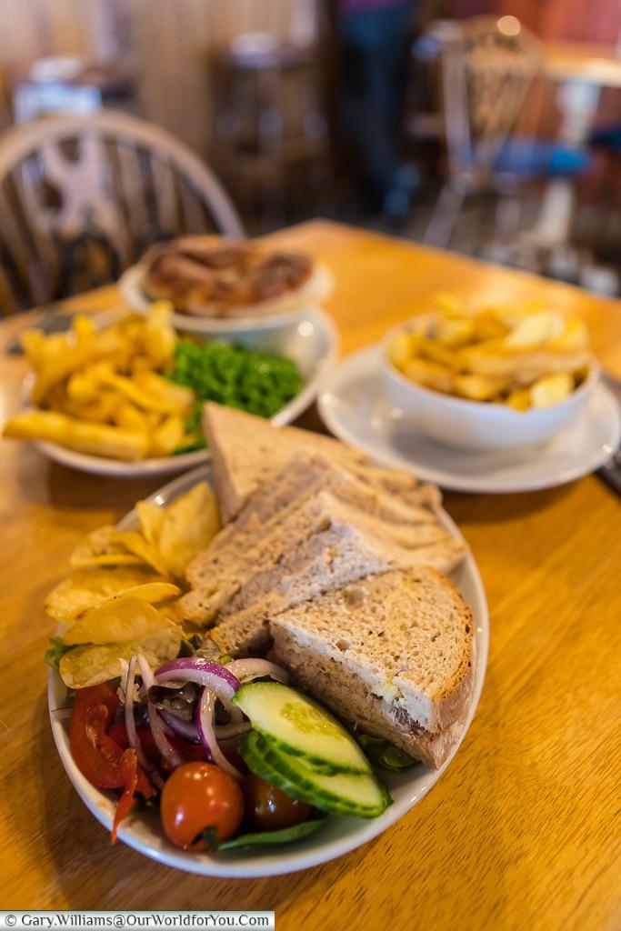 Lunch at the Pilot Inn, Dungeness, Kent, UK