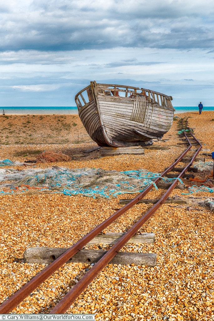 Railtracks, Dungeness, Kent, UK