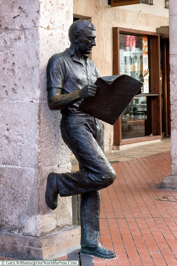 The newsreader, Burgos, Spain