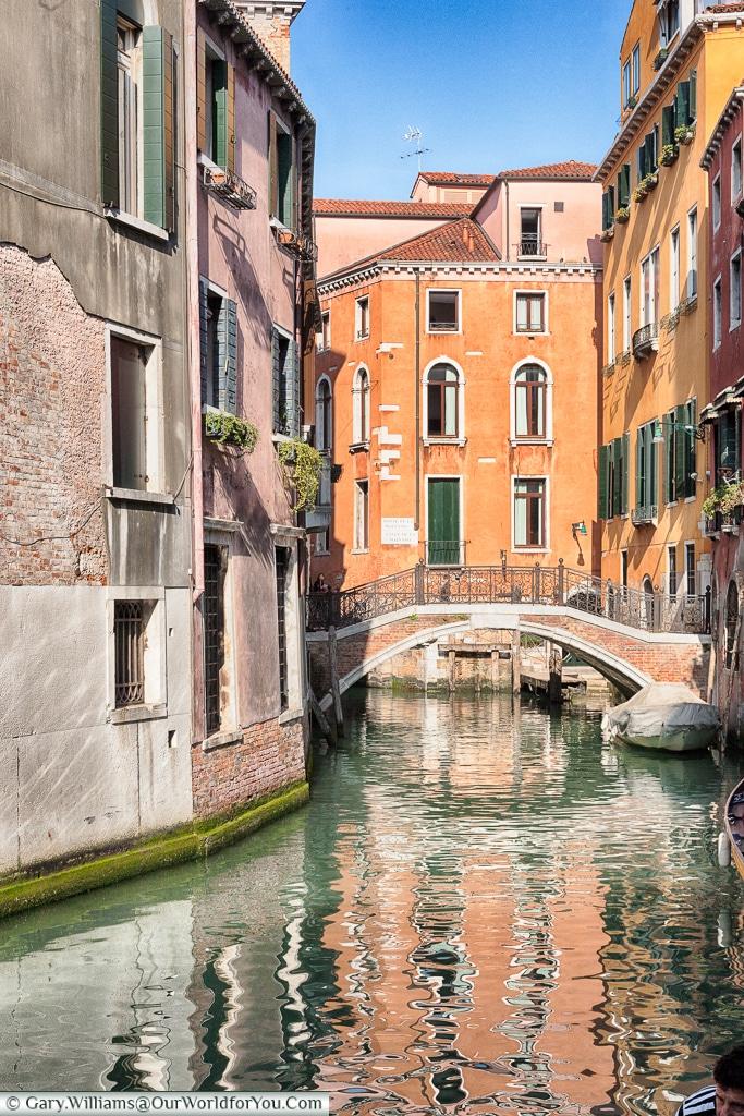 Basking in spring sunshine, Venice, Italy