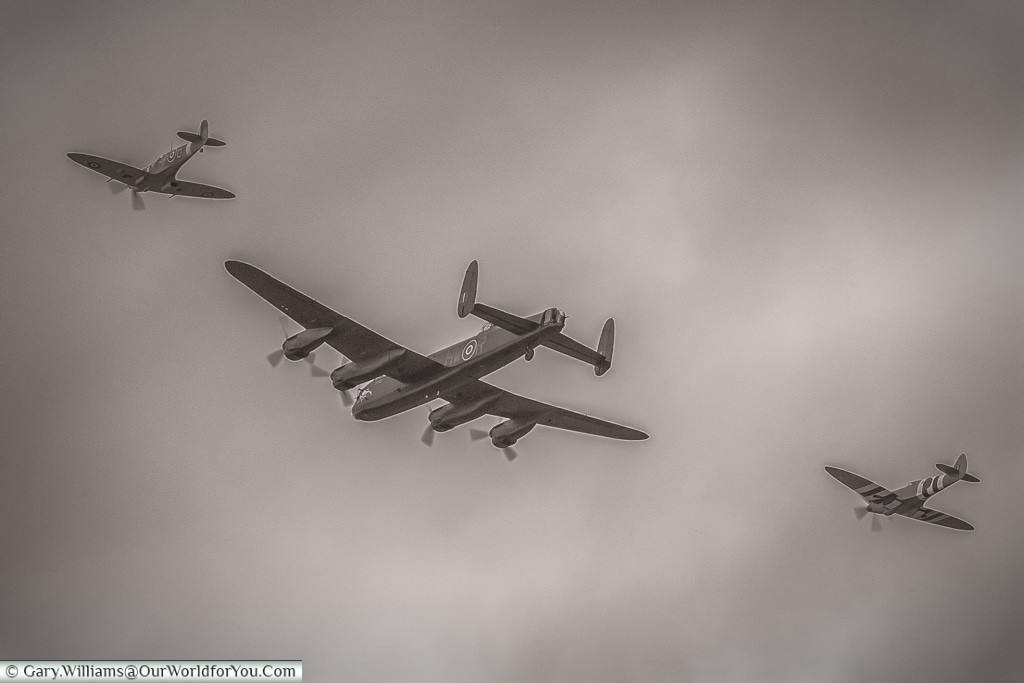 Battle of Britain memorial flight, Goodwood Revival, UK