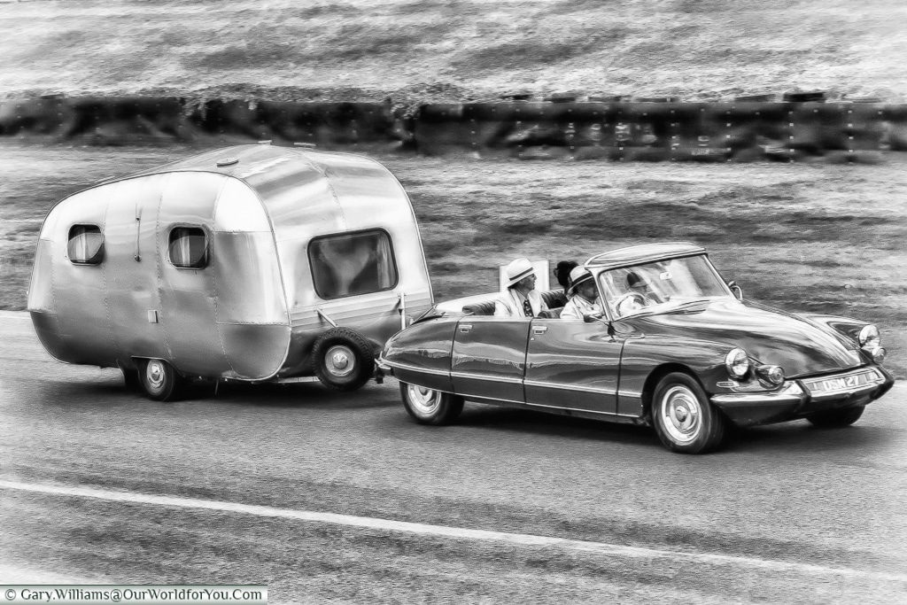 Camping in style, Goodwood Revival, UK