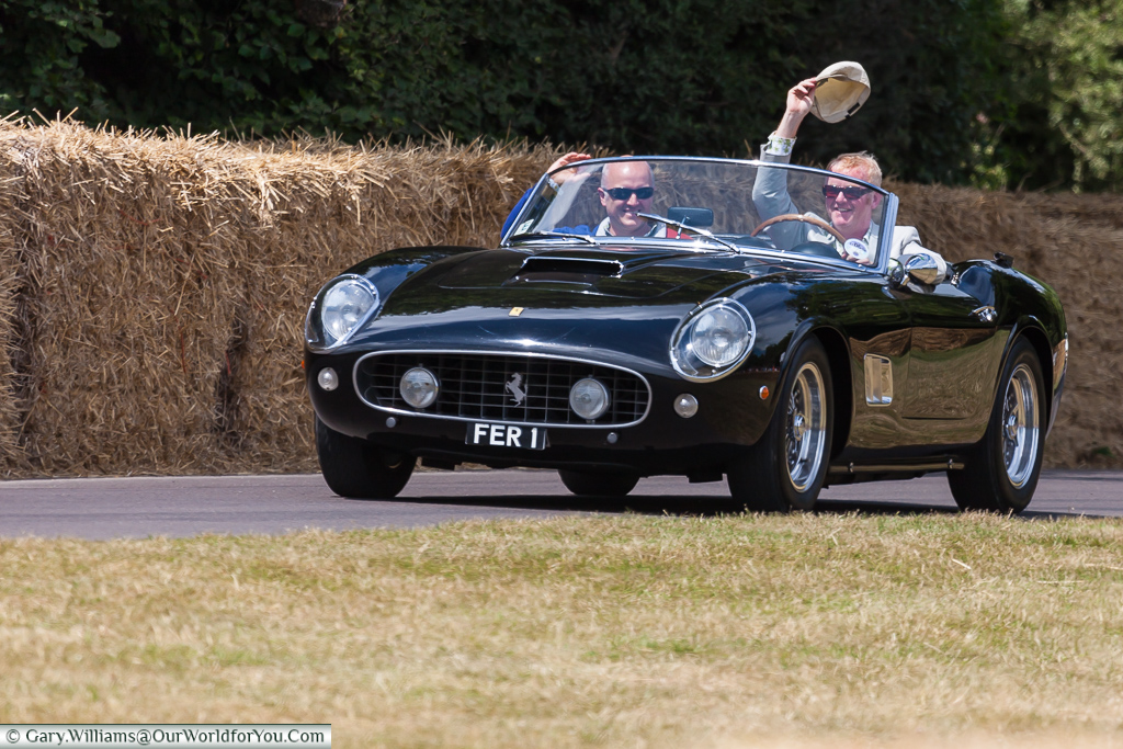 Chris Evans and one of his Ferraris, Goodwood, Festival of Speed