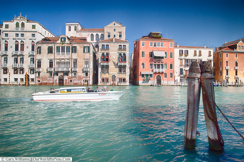 Cruising the Grand Canal, Venice, Italy