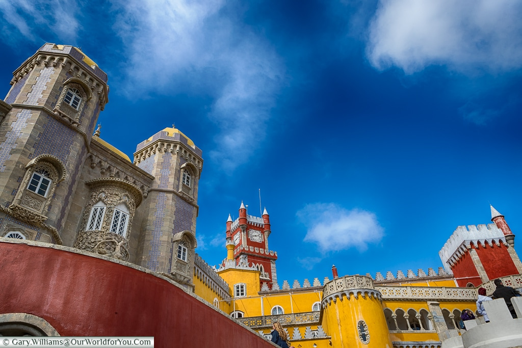 Dominating the skyline, The Palace of Pena, Sintra, Portugal