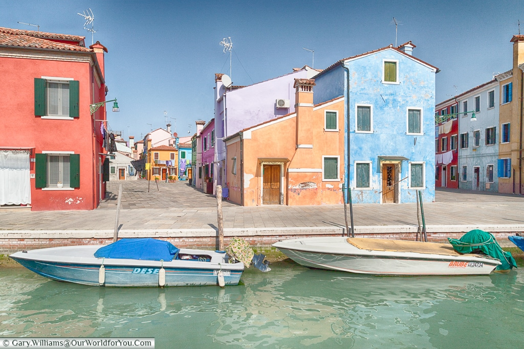 Ordinary homes, Burano, Venice, Italy