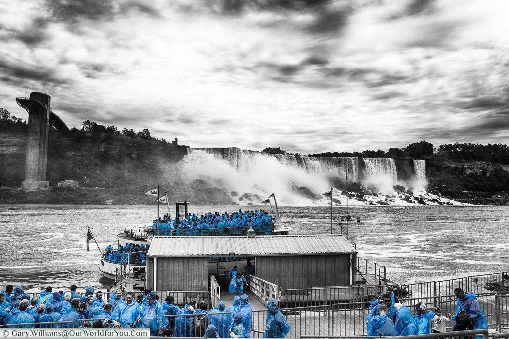 Preparing to board the Maid of the Mist, Niagara Falls, Canada