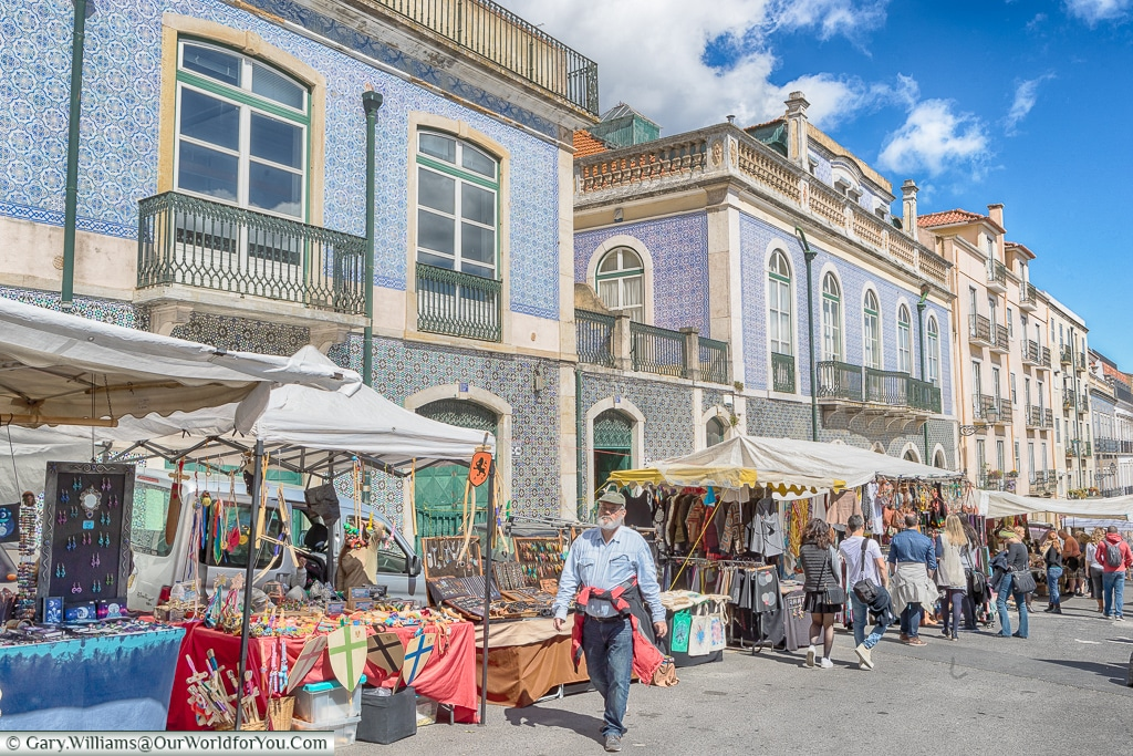 Strolling through the Thieves Market, Lisbon, Portugal