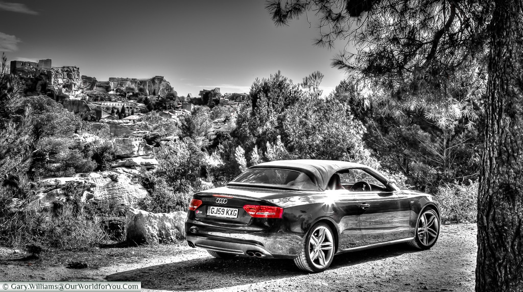 The Audi S5, and the view over Provence, France
