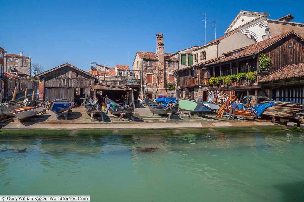 The Gondolas boatyard, Venice, Italy