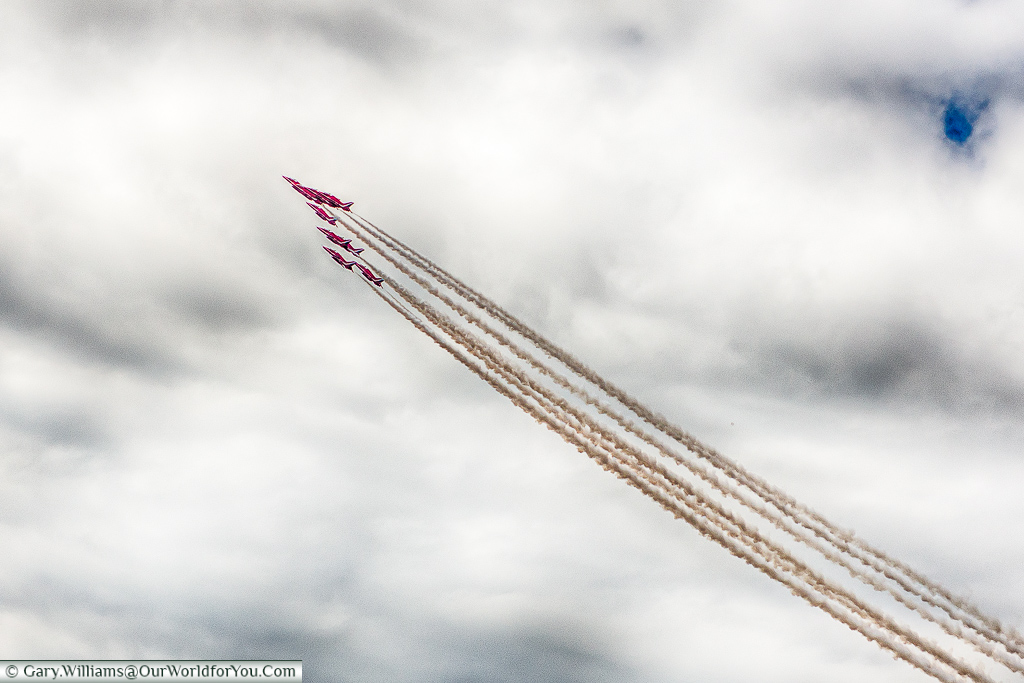 The Red Arrows at Goodwood, Festival of Speed, UK