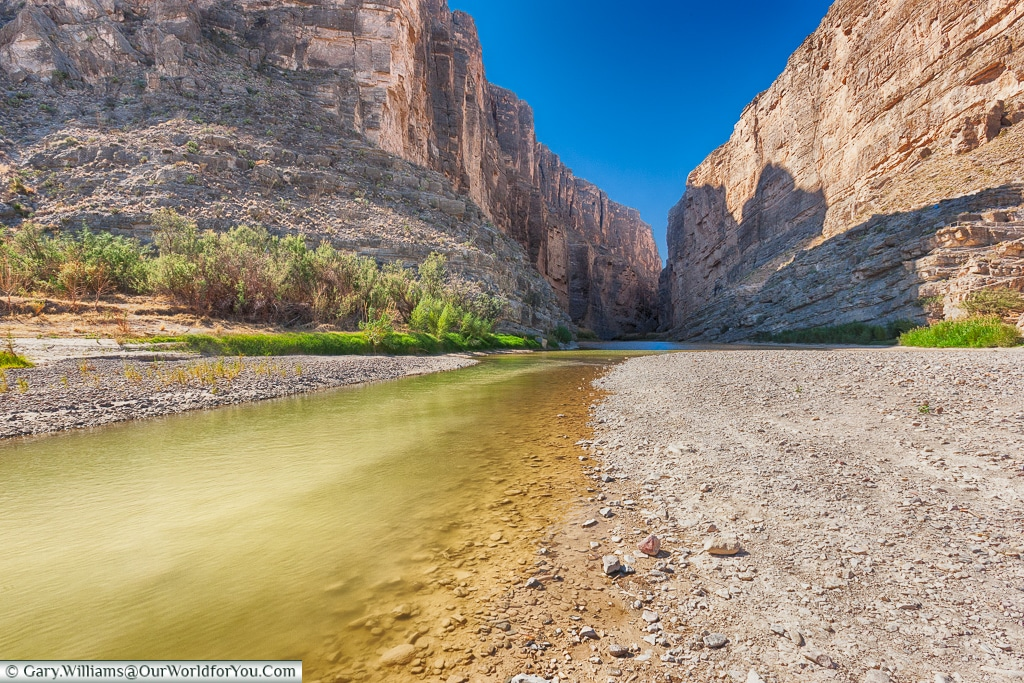 The Rio Grande gorge, Big Bend NP, Texas, USA