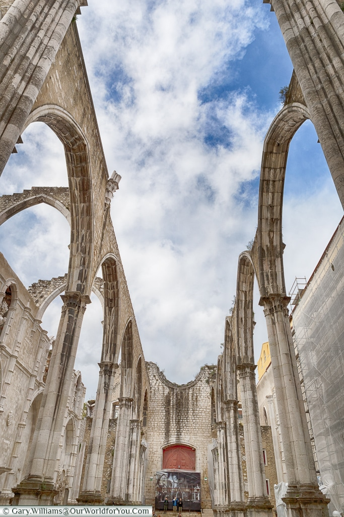 The remains of the Carmo convent, Lisbon, Portugal