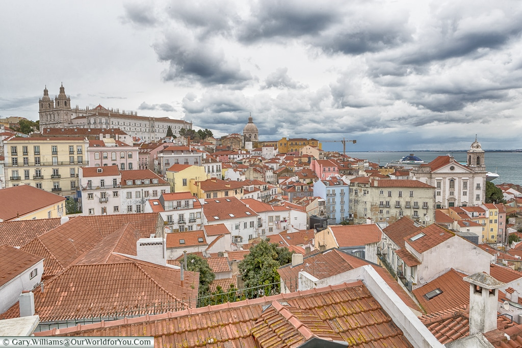 The view from Portas Do Sol, Lisbon, Portugal