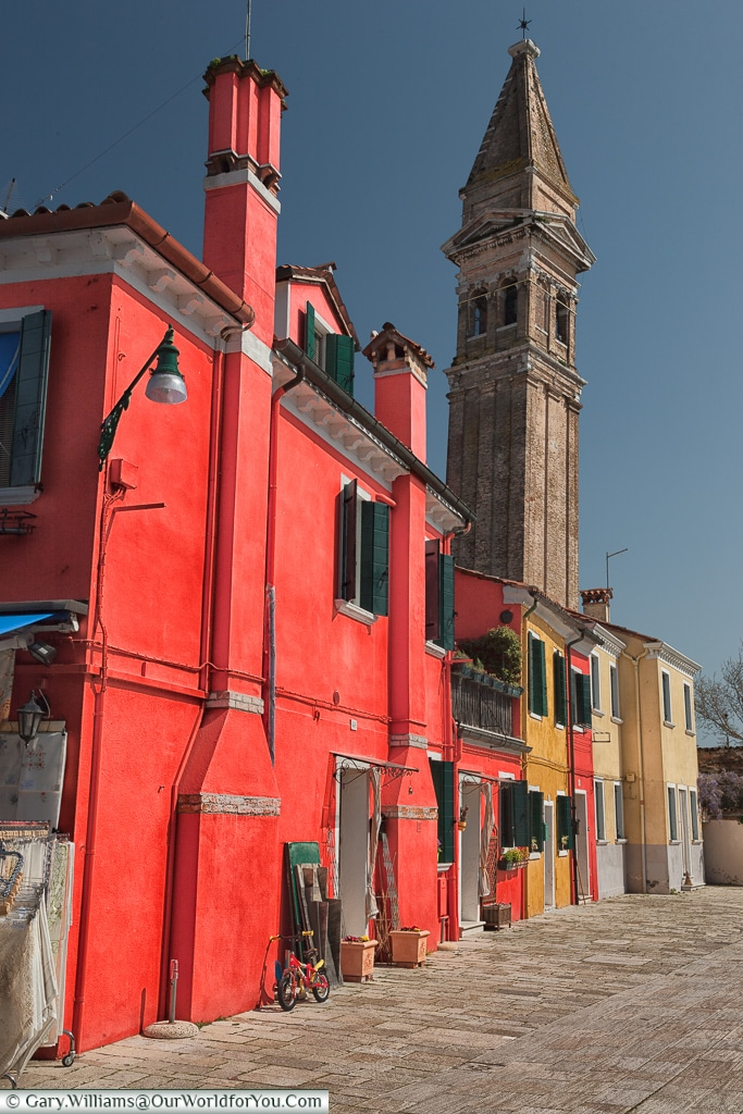Unbelievably red, Burano, Venice, Italy