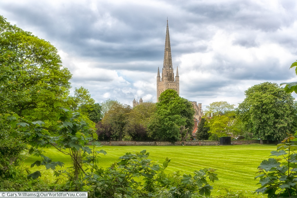 A view of Norwich Cathedral, Norfolk