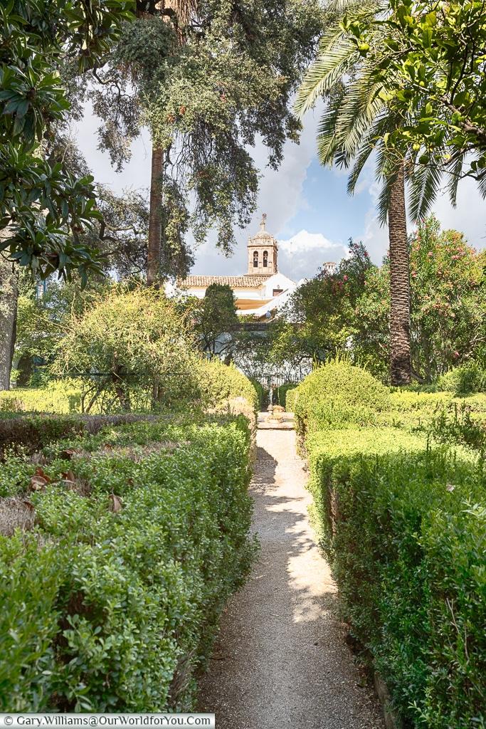 A view of the gardens, Palacio de Viana, Córdoba, Spain