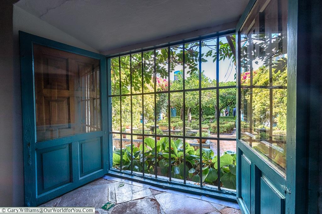 A view out onto the Courtyard of the Orange Trees, Palacio de Viana, Córdoba, Spain