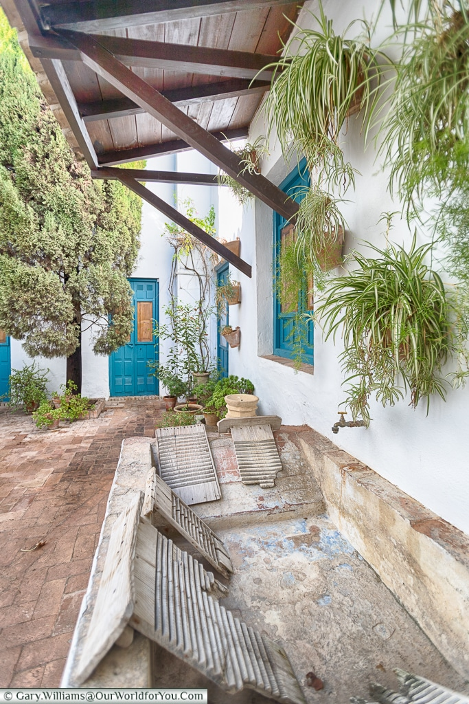 A washstand in the Courtyard of the Cats, Palacio de Viana, Córdoba, Spain