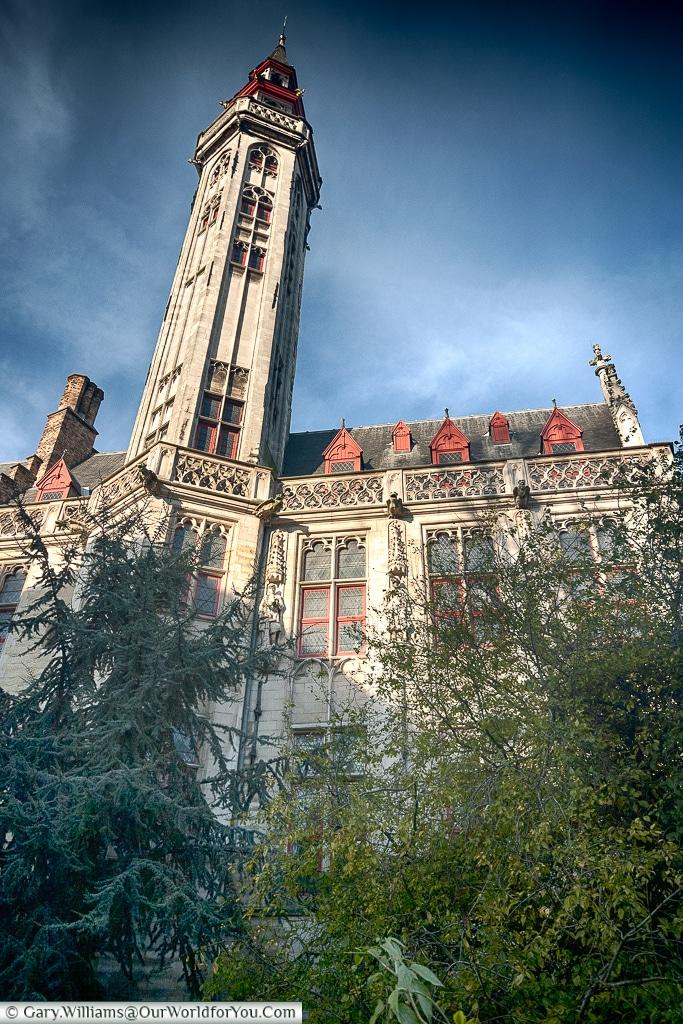Imposing archtiecture, Bruges, Belgium