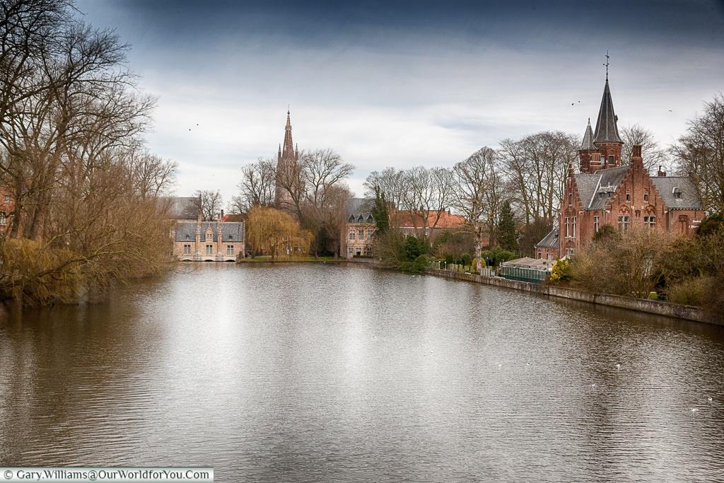 Minnewater, Bruges, Belgium