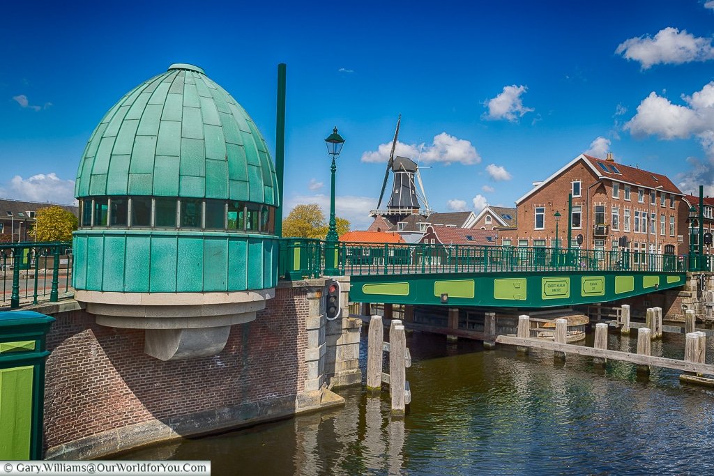One of the many bridges in Haarlem, Holland, Netherlands