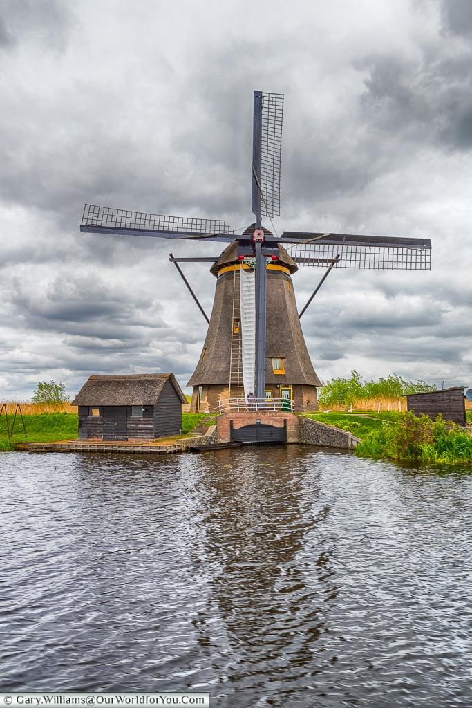 One of the windmills at Kinderdijk, Holland, Netherlands