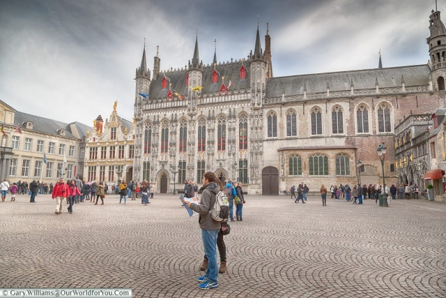 The Burg square, Bruges, Belgium