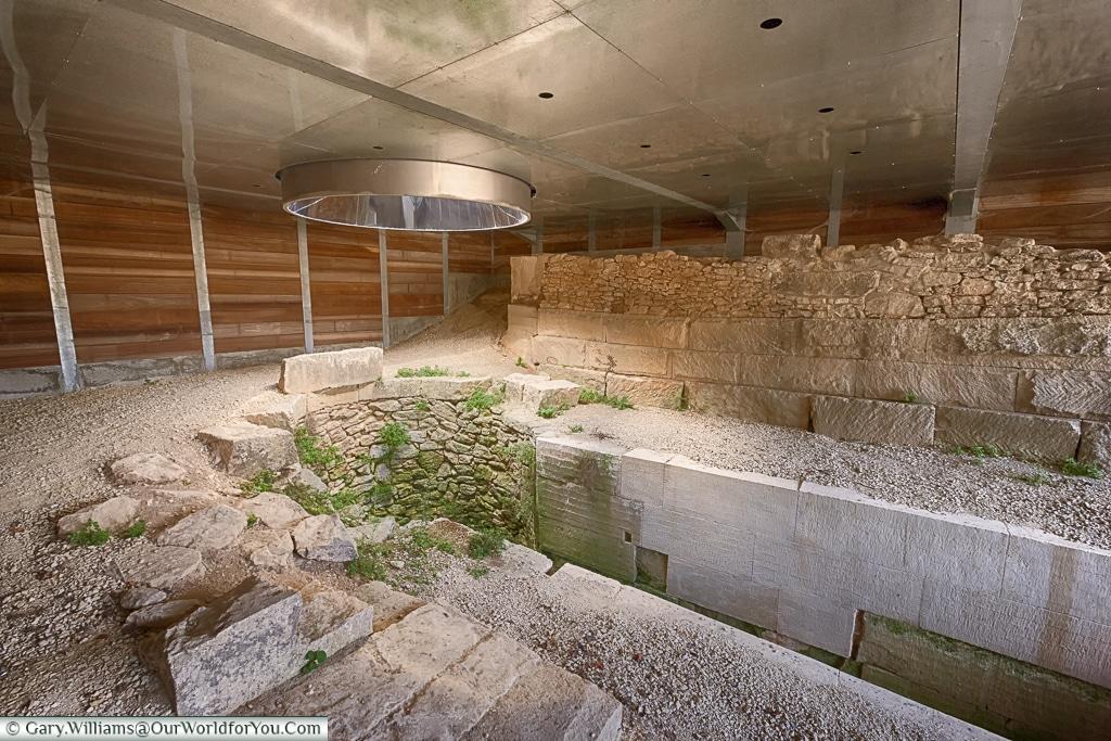 The Dromos well, Glanum, Saint-Rémy-de-Provence, France