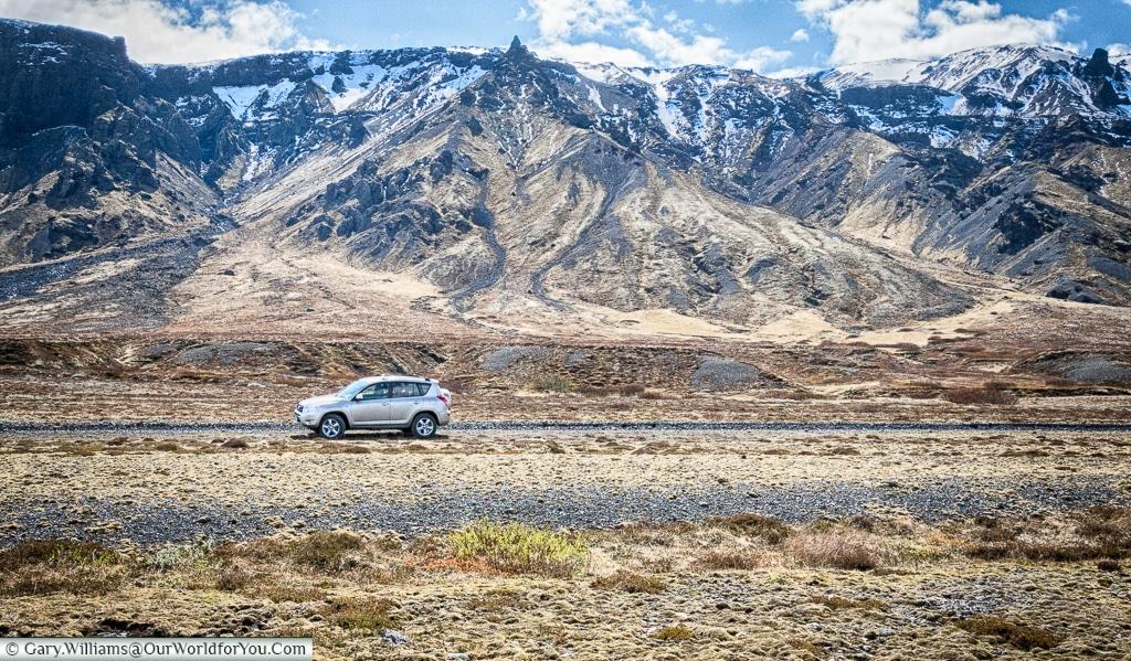 The Toyota RAV4 in Iceland in summer.