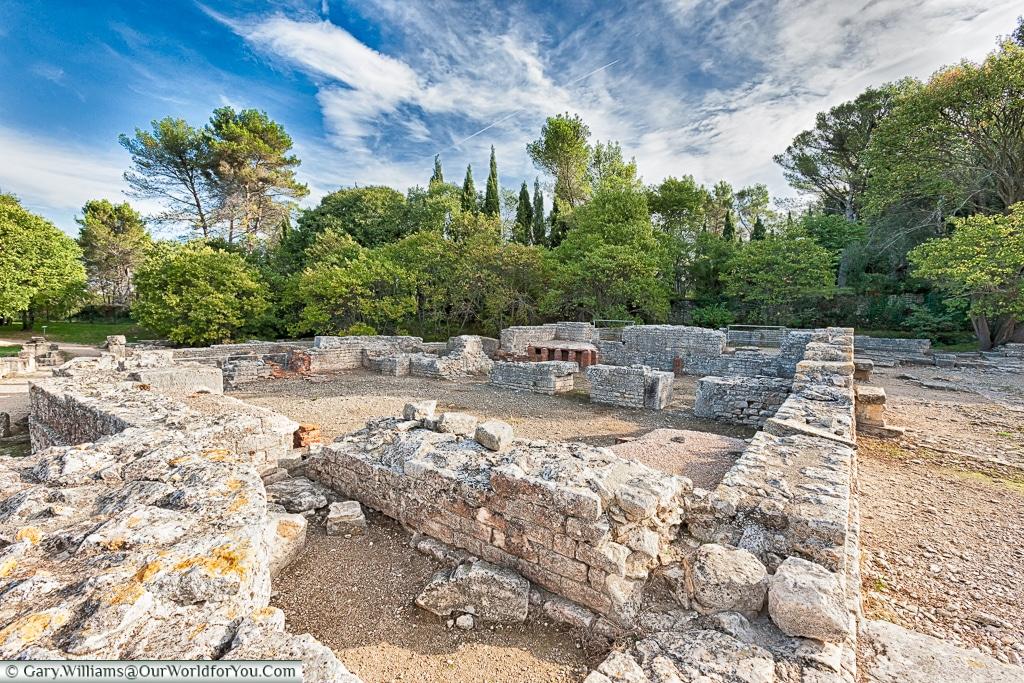 The remains of the baths, Glanum, Saint-Rémy-de-Provence, France