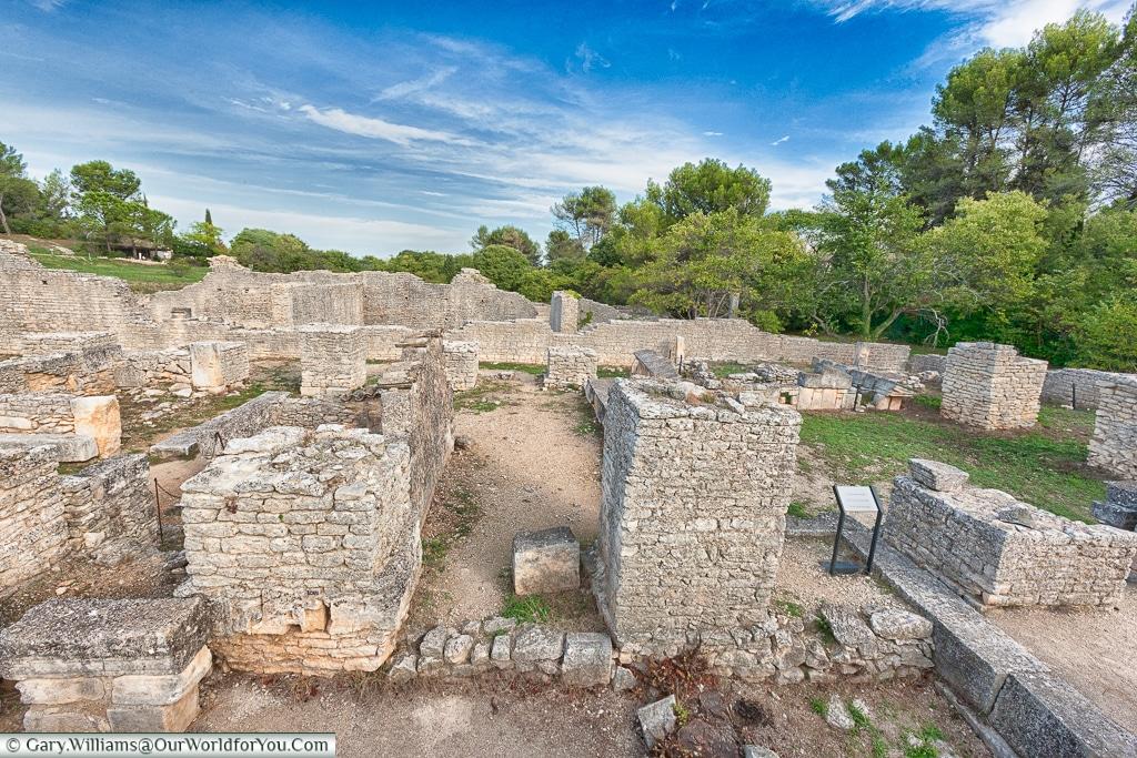 The structure to the town, Glanum, Saint-Rémy-de-Provence, France